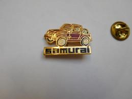 Beau Pin´s En EGF , Auto 4X4 Suzuki Samurai Rouge - Pin's