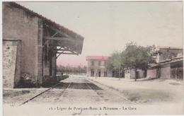 CPA - Gare De Port De Bouc - Ligne Port De Bouc à Miramas - Bouches Du Rhône - Gares - Sans Trains