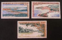 PAYSAGES 1963 - NEUFS ** - YT PA 26/28 - MI 248/49 + 255 - Côte D'Ivoire (1960-...)
