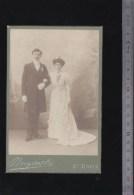 2 Photos Circa 1890 - Saint Denis - Photographe Brezinski - Couples De Mariés - Anonymous Persons
