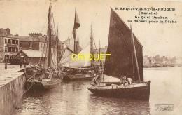 50 St Vaast La Hougue, Quai Vauban, Départ Pour La Pêche, Affranchie 1926 - Saint Vaast La Hougue