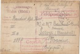 """ST GERARD : Carte Photo D'1 PS Au Camp De WAHN ( 3 Marq(Pour Cette Série , Tapez """"MaCollecFran"""" Dans Moteur De Recherche - Erinnophilie"""