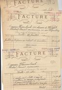 Hubert Cornet Mécanicien électricien Ixelles. 5 Factures Travaux Sur L'auto De M. Weissenbruch 1920-1921 - Automobile