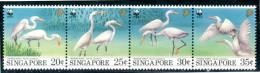 SINGAPORE 1993** - Egret Cinese / Chinese Egret - Striscia Di 4 Val. MNH Come Da Scansione - W.W.F.