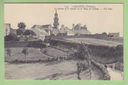 CARANTEC : Le Clocher Et Le Chemin De La Plage Du Kélenn. 2 Scans. Edition ND - Carantec