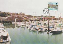Carte-Maximum JERSEY N°Yvert 462 / St Helier Marina - Jersey
