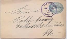 CIRC8- GUATEMALA EP ENVELOPPE OBLITEREE 11/8/1895 - Guatemala