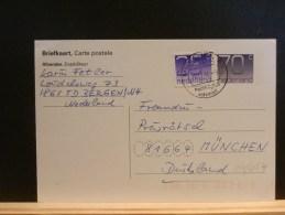64/054     BRIEFKAART   1995 MET BIJFR. NAAR DUITSLAND - Interi Postali