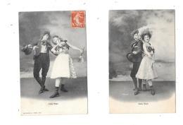 9544 - Lot De 2 CPA : Couple Dansant Le CAKE WALK - Femmes
