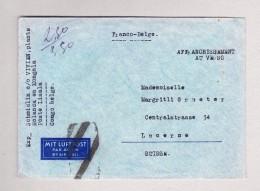 Belgisch Kongo - Lisala 13.2.1939 Luftpost Brief Nach Luzern Schweiz - Poste Aérienne: Lettres