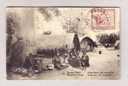 """Belgisch Kongo - BULUNGU 14.12.1925 Ansichtskarte Motiv """"Vilage Baleke"""" Nach Neuseeland - Poste Aérienne: Lettres"""
