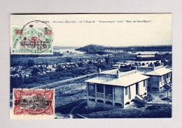 """Belgisch Kongo - ROMA ?.5.1922 Ansichtskarte Motiv """"Village Romamongoi"""" Nach Zürich - Poste Aérienne: Lettres"""