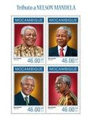 MOZAMBIQUE SHEET. TRIBUTO A NELSON MANDELA. HOMAGE TO NELSON MANDELA. 2014. PERFORADO NUEVO. - Mozambique