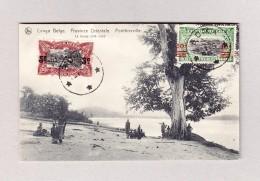 """Belgisch Kongo - BOMA 29.5.1922 Ansichtskarte Motiv """"Ponthierville"""" Nach Zürich - Poste Aérienne: Lettres"""