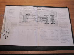 PONTIAC 1937 - SCHEMA DES POINTS DE GRAISSAGE ET LUBRIFIANTS. - Technical Plans