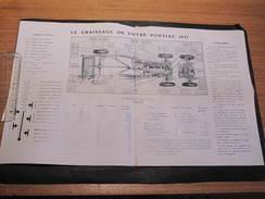 PONTIAC 1937 - SCHEMA DES POINTS DE GRAISSAGE ET LUBRIFIANTS. - Planches & Plans Techniques
