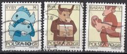 3278 Polonia 1996 Segni Zodiaco Zodiac Pesci - Toro - Ariete Viaggiato Used Polska Poland - Astrologia