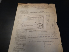 Facture Du  Service Téléphonique à Maubeuge .-1929- - France