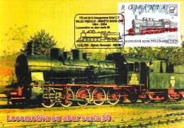 Romania  Maximumkarte Locomotiva Seria 50 Mit SST - Treinen
