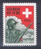 FP 131 - SUISSE FELDPOST HD Bewachungsdienst/Surveillance 16 BE 1940 - Poste Militaire