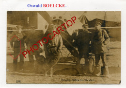 BOELCKE-Flieger-Avion-Aviation-Fliegerei-CARTE PHOTO Allemande-Guerre 14-18-1 WK-MILITARIA-France-Feldpost- - Guerre 1914-18
