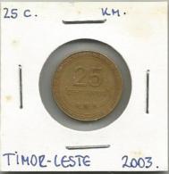 Timor Leste East Timor 25 Centavos 2003. - Timor