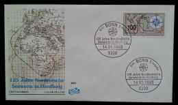 ALLEMAGNE - FDC 1993 - YT N°1479 - OBSERVATOIRE MARITIME, HAMBOURG - FDC: Briefe