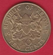 Kenya - 10 Cents - 1987 - Kenya