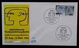 ALLEMAGNE - FDC 1993 - YT N°1522 - SALON INTERNATIONAL DE LA RADIO - BERLIN - [7] West-Duitsland