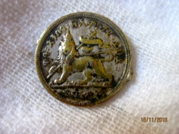 Ethiopia: Menelik Mini-medal (cf Gill) - Royal / Of Nobility