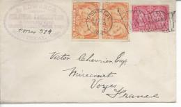 De Montréal  >> Mirecourt Timbres 39x2, 41  1897 - Briefe U. Dokumente