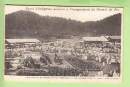 MADAGASCAR - Foule Indigène à L' Inauguration Du Chemin De Fer - Peu Courant - Dos Simple - BE - 2 Scans - Madagascar