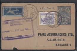 PAKISTAN 1A Prepaid Used POST CARD 13 March 1965 - Pakistan