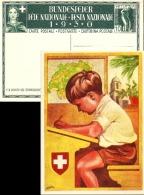 """Bundesfeier Karte 51  """"Knabe Auf Schulbank""""             1930 - Postwaardestukken"""