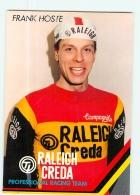 Frank HOSTE .  Cyclisme. 2 Scans. TI Raleigh Creda - Ciclismo