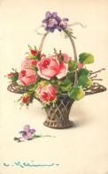 KLEIN Catharina (illustrateur) -  Panier De Fleurs. - Klein, Catharina