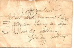 LETTRE DEPART DE 64 BEDOUS POUR BORDEAUX 16 JUIN 1864 - Marcophilie (Lettres)