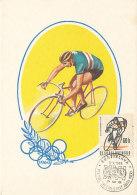 D26925 CARTE MAXIMUM CARD 1963 CZECHOSLOVAKIA - CYCLING RACING CP ORIGINAL - Cycling
