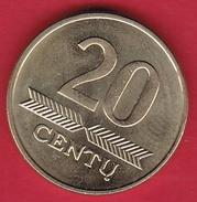 Lituanie - 20 Centu 2008 - Lithuania