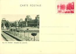CARTE POSTALE ENTIER   PARIS MUSEE DU LOUVRE    G L ARLAUD - Postwaardestukken