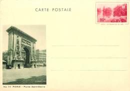CARTE POSTALE ENTIER   PARIS  PORTE ST DENIS   G L ARLAUD - Postwaardestukken