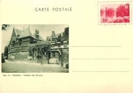 CARTE POSTALE ENTIER   PARIS  HOTEL DE CLUNY   G L ARLAUD - Entiers Postaux