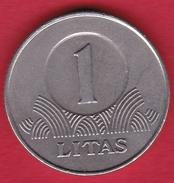 Lituanie - 1 Litas 2001 - Lithuania