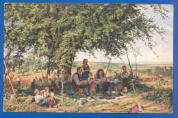 Malerei; Schüz Th.; Erntegebet; Serie 4/119; 1914 - Künstlerkarten