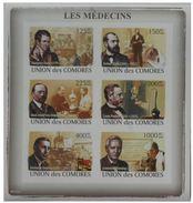 Comores Louis Pasteur Sheetlet Imperf - Louis Pasteur