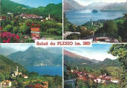 SALUTI DA PLESIO (CO) - VEDUTINE - F/G - V - Italia