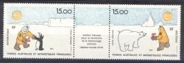 TAAF Posta Aerea 1992 Trittico N. 120A MNH Catalogo € 16 - Posta Aerea