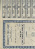 Action Ancienne : SA Les Produits Cellulosiques Ben Conservato Cod.doc.233 - Industrie
