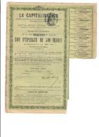Obbligation Ancienne :  La Capitalisation 1909 Cod.doc.235 - Trasporti