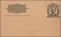 1904-EP-61 CUBA 1904. Ed.70. REPUBLICA. TARJETA ENTERO POSTAL. POSTAL STATIONERY. SANTIAGO DE CUBA A MATANZAS. - Cuba